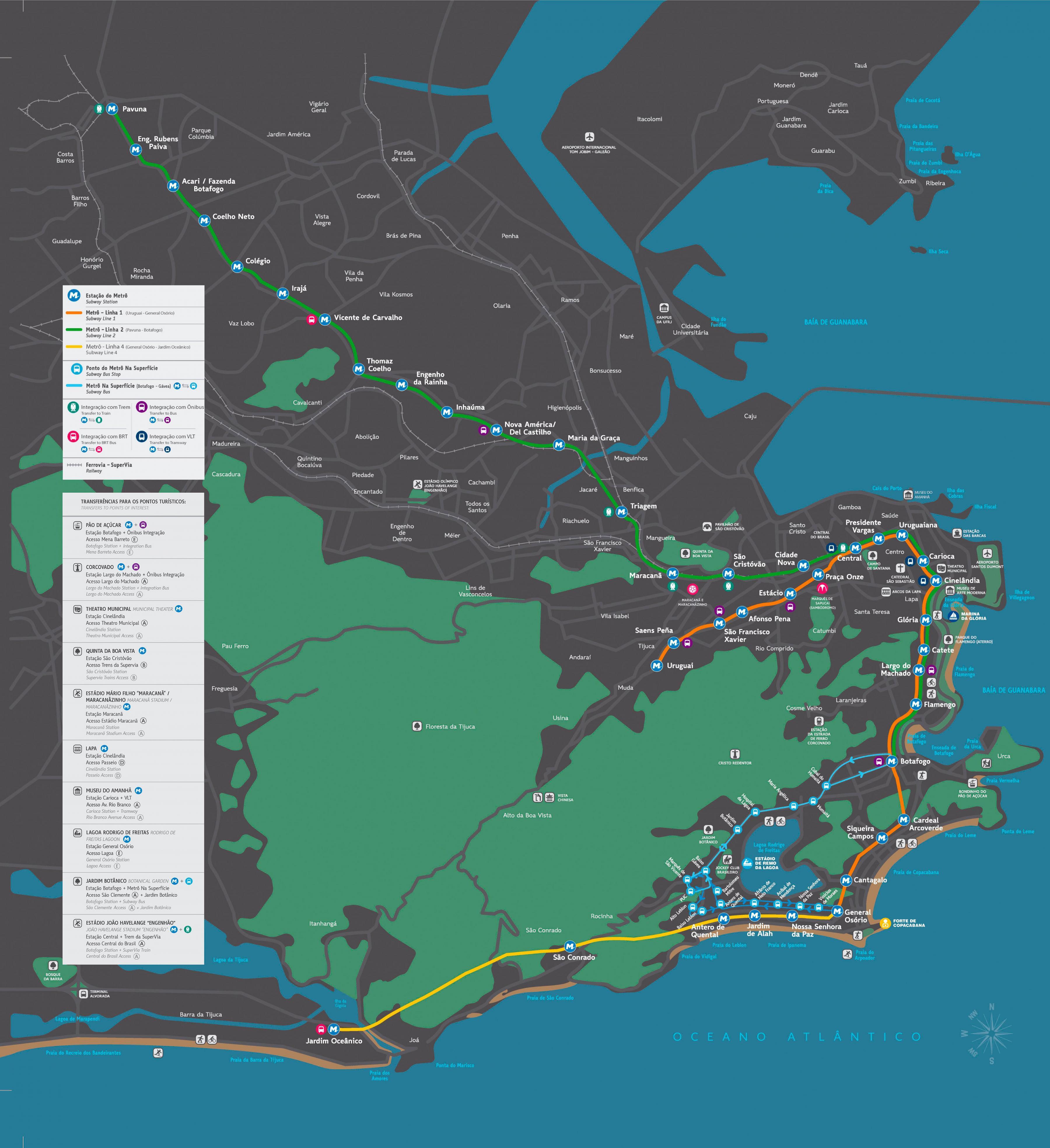 karta rio Tunnelbana Rio karta   Karta över tunnelbanan Rio (Brésil) karta rio