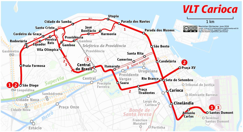 karta rio VLT Rio de Janeiro karta   Karta över VLT Rio de Janeiro (Brésil) karta rio