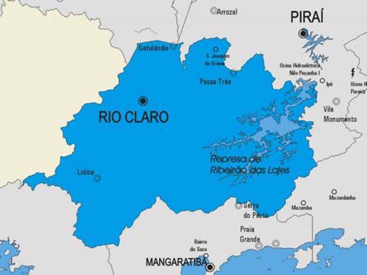 karta rio Rio Claro kommun karta   Karta över Rio Claro kommun (Brésil) karta rio